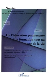 Martine Beauvais Azzaro - Savoirs N° 6, 2004 : De l'éducation permanente à la formation tout au long de la vie.