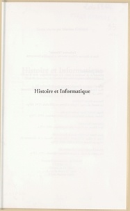 Martine Cocaud - Histoire et informatique - Base de données, recherche documentaire multimédia, actes du 1er Colloque national de l'Association Histoire et informatique, Université Rennes 2, juin 1994.