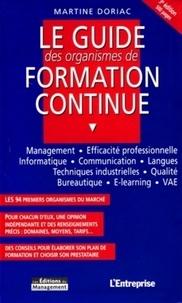 Martine Doriac - Le guide des organismes de formation continue.