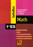 Martine Gauthier - Math 1e ES - Enseignement obligatoire et option.