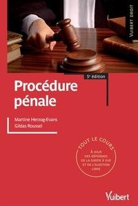 Martine Herzog-Evans et Martine Herzog-Evans - Procédure pénale.