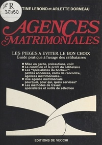 Martine Lerond et Arlette Dorneau - Agences matrimoniales.