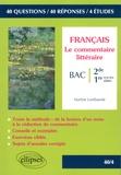 Martine Lombaerde - Le commentaire littéraire - Seconde et Premières toutes séries.