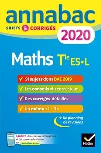 Téléchargeur de livre pour iphone Annales Annabac 2020 Maths Tle ES, L  - sujets et corrigés du bac   Terminale ES (spécifique & spécialité), L (spécialité)