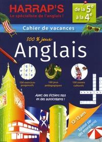 Cahier de vacances 100 % jeux Anglais, de la 5e à la 4e - Martyn Back pdf epub