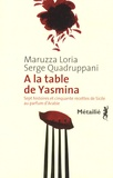 Maruzza Loria et Serge Quadruppani - A la table de Yasmina - Sept histoires et cinquante recettes de Sicile aux saveurs d'Arabie.
