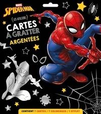 Marvel - Cartes à gratter argentées Spider-man - Les ateliers. Contient 7 cartes, 7 coloriages, 1 stylet.