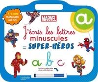 Marvel - J'écris les lettres minuscules avec mes super-héros - Maternelle MS-GS. Avec un feutre effaçable et sa petite éponge.