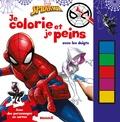 Marvel - Je colorie et je peins avec les doigts Spider-Man - Avec des personnages en carton.