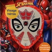 Marvel - Ma pochette visage héros Spider-Man - Stickers déguisement et coloriage.
