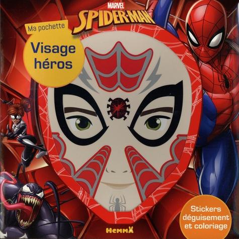 Ma pochette visage héros Spider-Man. Stickers déguisement et coloriage
