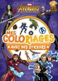 Marvel - Mes coloriages avec des stickers Marvel Infinity War.