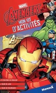 Marvel - Mon kit d'activités Marvel Avengers - 12 crayons de couleurs, 1 bloc de jeux, 1 bloc de coloriage.