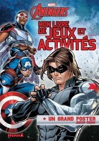 Marvel - Mon livre de jeux et activités Marvel Avengers - + un grand poster recto verso.