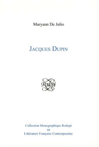 Maryann De Julio - Jacques Dupin.