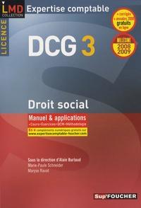 Maryse Ravat - Droit social Licence DCG3 - Manuel et applications.