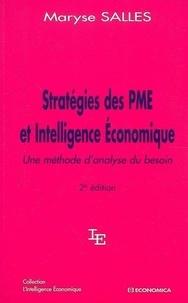 Maryse Salles - Stratégies des PME et Intelligence Economique - Une méthode d'analyse du besoin.