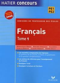 Maryvonne Dhers et Philippe Dorange - Français Concours de Professeur des Ecoles - Tome 1.