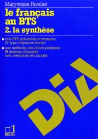 Coachingcorona.ch LE FRANCAIS AU BTS. Tome 2, la synthèse Image
