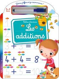 Marzia Giordano - Les additions 5-7 ans - Cahier d'écriture - Avec un feutre effaçable.