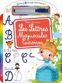 Marzia Giordano - Les lettres majuscules cursives 5-7 ans - Cahier d'écriture - Avec un feutre effaçable.