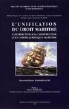 Massimiliano Rimaboschi - L'unification du droit maritime : contribution à la construction d'un ordre juridique maritime.