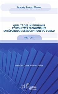 Galabria.be Qualité des institutions et résultats économiques en République Démocratique du Congo - 1980 - 2015 Image