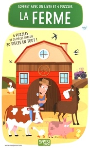 Mathew Neil - La ferme - Coffret avec un livre et 4 puzzles.