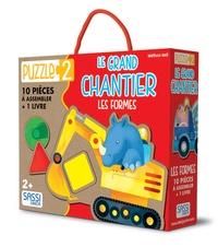 Puzzle 2 : Le grand chantier- Les formes : 10 pièces à assembler + 1 livre - Mathew Neil |