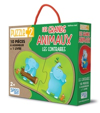 Puzzle 2 : les grands animaux - Les contraires : 10 pièces à assembler + 1 livre.pdf