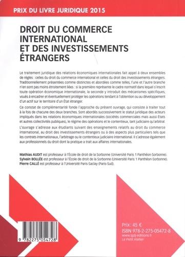 Droit du commerce international et des investissements étrangers 3e édition
