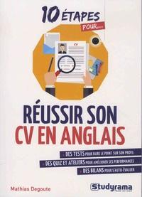 Mathias Degoute - Réussir son CV en anglais.