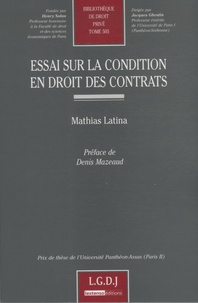 Coachingcorona.ch Essai sur la condition en droit des contrats Image