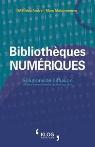 Mathieu Andro et Marc Maisonneuve - Bibliothèques numériques - Solutions de diffusion (Gallica marque blanche, archive.org, etc.).