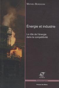 Energie et industrie- Le rôle de l'énergie dans la compétitivité - Mathieu Bordigoni |