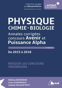 Physique, chimie, biologie - Annales corrigées concours Avenir et Puissance Alpha de 2015 à 2018.pdf