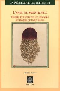 Feriasdhiver.fr L'appel du monstrueux - Pensées et poétiques du désordre en France au XVIIIe siècle Image