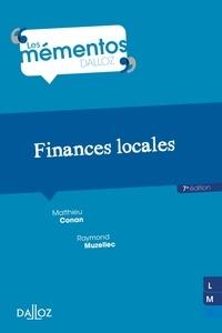 Mathieu Conan et Raymond Muzellec - Finances locales.