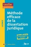 Mathieu Diruit - Méthode efficace de la dissertation juridique.