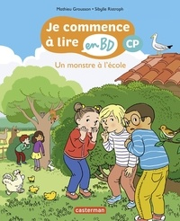 Mathieu Grousson - Je commence à lire en BD - CP - Un monstre à l'école.