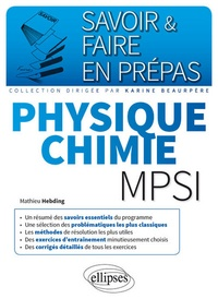 Mathieu Hebding - Physique chimie mpsi.