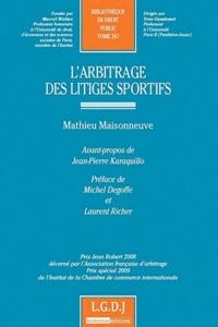 Mathieu Maisonneuve - Arbitrage des litiges sportifs.