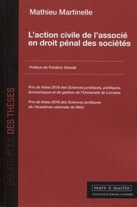 L'action civile de l'associé en droit pénal des sociétés - Mathieu Martinelle pdf epub