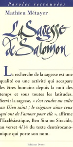 Mathieu Métayer - La sagesse de Salomon.