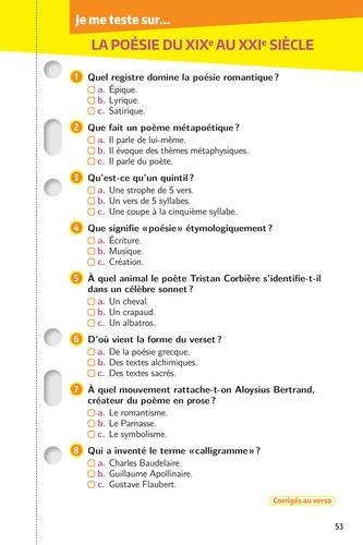 Français 1re. Les fiches  Edition 2019