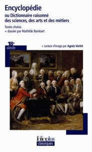 Mathilde Bombart et Agnès Verlet - Encyclopédie - Ou Dictionnaire raisonné des sciences, des arts et des métiers.