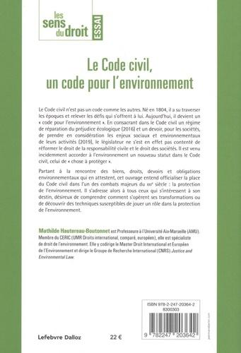 Le Code civil, un code pour l'environnement