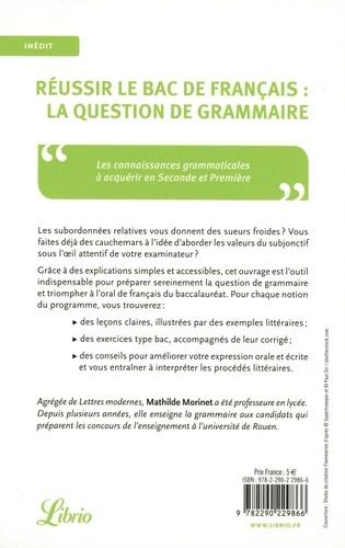 Réussir le bac français : l'épreuve de grammaire