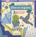 Mathilde Paris et Emilie Lapeyre - Déco en origamis - Avec 50 feuilles de motifs, du fil de fer pour créer des bouquets, du fil de coton et un dépliant avec 8 modèles.