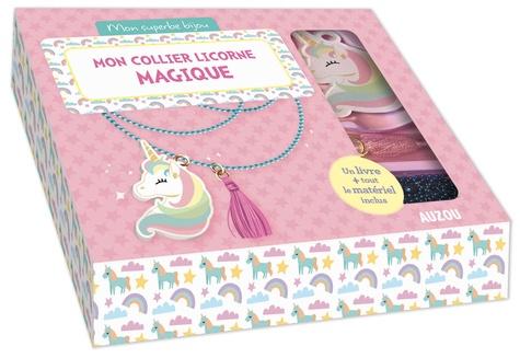Mon Joli Collier Licorne Magique Avec 1 Livre 1 Chaine 1 Pendentif Licorne 1 Pompon Rose Des Anneaux De Raccord